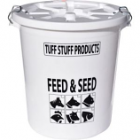 Tuff Stuff Products - Feed Storage Drum With Locking Lid - White - 17 Gallon