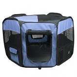 Portable Pet Soft Play Pen - Blue - Large
