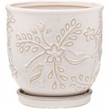 Southern Patio - Clayworks Venice Planter - White - 8 Inch