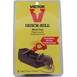 Woodstream Victor Rodent - Victor Quick-Kill Mouse Trap-Black/Red-2 Pack