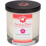 Aroma Paws - Geranium Orchid Sage - Glass Candle In Box - 8 oz