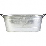 Panacea - Oval Washtub Planter-Galvanized-16 Inch