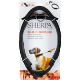 Quaker Pet Group - Sherpa Dog Collar With Built In Leash - Black - X Large