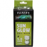 Flukers - Sun Glow Coil Bulb Tropical 5.0 Uvb - 26 Watt