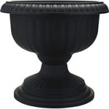 Southern Patio - Dynamic Design Ambassador Collection Grecian Urn - Black - 18 Inch