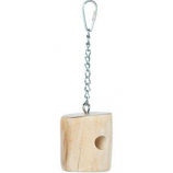 Prevue Pet Products - Prevue Wood Cheese Bird Toy - Natural Wood - Small