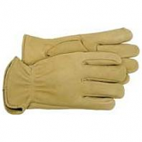 Boss Manufacturing -Premium Grain Deerskin Leather Driver Glove-Tan-Small