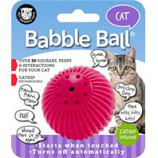 Pet Qwerks - Babble Ball With Catnip-Fuschia-Small