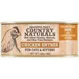 Grandma Mae's Country Naturals - Country Naturals Grain Free Cat & Kitten Pate - Chicken - 2.8 Oz