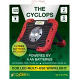 Gogreen Power - Cyclops Led Worklight - Red Black - 1200 Lumens