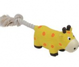 Coastal Pet Products - Lil Pals Latex & Rope Cow - Yellow - 8 Inch