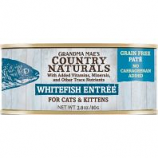 Grandma Mae's Country Naturals - Country Naturals Grain Free Cat & Kitten Pate - Whitefish - 2.8 Oz