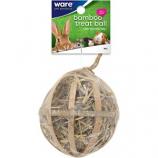 Ware Mfg - Critter Ware Bambo Treat Ball W Hay - Natural