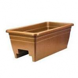 Myers Industries L&Ggroup - Deck Rail Box Planter - Terra Cotta - 24 Inch