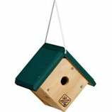Welliver Outdoors - Wren House Cedar-Natural/Green-7.5X8.25X5.5