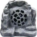 Alpine Corporation - Solar Bluetooth Enabled Rock Speaker-Gray-11 Inch