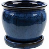Southern Patio - Clayworks Wisteria Planter-Blue-6 Inch
