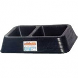 Tuff Stuff Products - Double Dish - Black - 3 Quart
