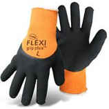 Boss Manufacturing -Flexi Grip Plus High-Vis  Latex Palm-Orange-Medium