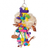 Prevue Pet Products - Bodacious Tough Puff Toy - Multi-Colored - 7X17 Inch