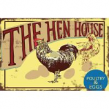 My Favorite Chicken - The Hen House Metal Sign - 12X16