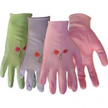 Boss Manufacturing -Nylon Knit Nitrile Palm Gloves For Women-Assorted-Large