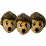 Petstages - Squeakin  Hedgiez For The Hide A Hedgie Toy-Brown-3Pack