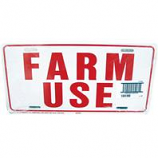 Hy - Ko roducts - Farm Use  Id Tag - White/Red - 12 X 18 Inch