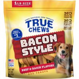 Tyson Pet Products - True Chews Bacon Style Dog Treats - Beef/Bacon - 16 Oz