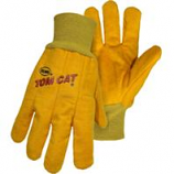 Boss Manufacturing -Tom Cat Chore Glove With Flexible Knit Wrist-Yellow-Extra Large