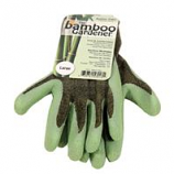 Lfs Glove P - The Bamboo Gardener Rubber Palm Gloves - Green - Large