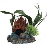Blue Ribbon Pet Products - Exotic Environments Fire Coral Cave W/Plants - Small
