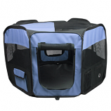 Portable Pet Soft Play Pen - Blue - Small