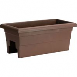 Novelty Mfg - Countryside Over The Rail Planter - Brown - 24 Inch