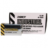 Dorcy International - Industrial Alkaline Batteries - 9 Volt/12 Pack