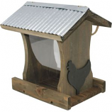 Audubon/Woodlink - Rustic Farmhouse Tall Hopper Feeder With Rooster - Natural