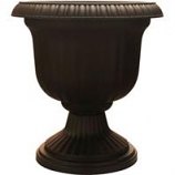 Southern Patio - Dynamic Design Ambassador Collection Utopian Urn - Black - 14 Inch