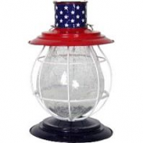 Exhart - Solar Firefly Patriotic Accent Lantern - Red/White/Blue