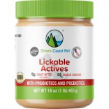 Green Coast Pet - Lickable Actives with Probiotics And Prebiotics - Peanut Butter - 16 Oz