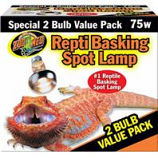 Zoo Med - Repti Basking Spot Lamp - 2 Pack - 75 Watt