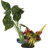Blue Ribbon Pet Products - Tropical Gardens Pothos Variegated Leaf Cluster - Green - Small
