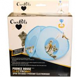 Ourpets Company - Opb Pounce House Electronic Spin Toy-Blue