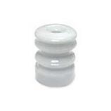 Woodstream Zareba - Zareba Multi-Groove Wood Post Ceramic Insulator - White - 25 Pack