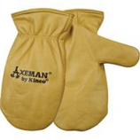 Kinco International-Axeman Lined Leather Mitt-Tan-Large