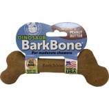 Pet Qwerks - Dinosaur Barkbone With Real Wood - Peanut Butter - Large