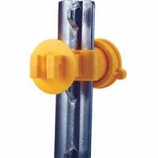 Dare Products Inc-Western Screw-Tight T-Post Insulator-Yellow-25 Pack