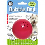 Pet Qwerks - Animal Sounds Babble Ball-Red & Yellow-Medium