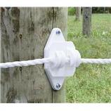 Tru-Test-Patriot Wood Post Claw Insulator-White-Jumbo/25 Pack