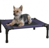 K&H Pet Products - Creative Solutions Elevated Pet Bed - Blue - 17Inx22In - Small