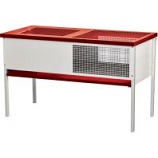 Miller Mfg - Galvanized Chick Brooder Box - Red